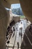 Futuristische zaal in Museum van Geschiedenis van Poolse Joden in Warshau Stock Foto
