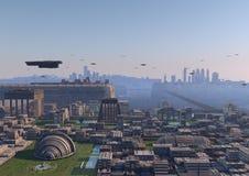 Futuristische Zivilisation Stockbilder