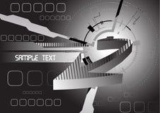 Futuristischer abstrakter Hintergrund mit Pfeil lizenzfreie abbildung