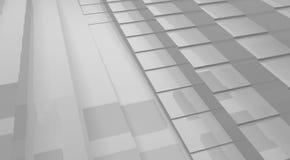 futuristischer Abstraktionshintergrund des Würfels 3d Stockbild