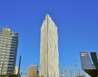 Futuristischer Bezirk Barcelonas Lizenzfreies Stockfoto