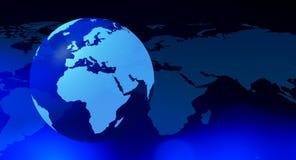 Futuristischer blauer abstrakter Hintergrund der Kugeltechnologie lizenzfreie abbildung