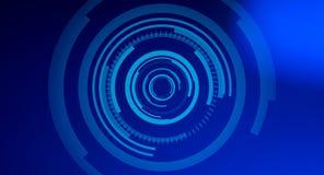 Futuristischer blauer Abstraktionshintergrund HUDs stock abbildung