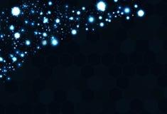 Futuristischer digitaler Glasspiegel der geometrischen Technologie des Polygons blau stock abbildung