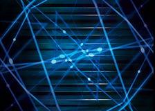 Futuristischer dynamischer abstrakter Hintergrund Lizenzfreie Stockfotografie