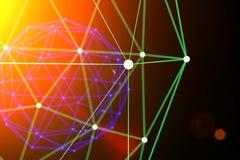 Futuristischer Formabstrakter begriff, 3d übertragen lizenzfreies stockbild