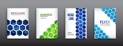 Futuristischer Geschäftsplan Techno-Plakatschablonen stockbilder
