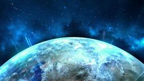 Futuristischer globaler Technologie-Hintergrund lizenzfreie abbildung