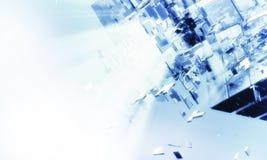 futuristischer Hintergrund 3D Lizenzfreie Stockfotografie