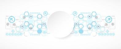 Futuristischer Hintergrund des abstrakten blauen Hexagons für Planungsarbeiten vektor abbildung