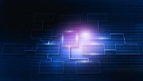 Futuristischer Hintergrund des Geschäftsnetzes Stockbilder