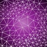 Futuristischer Hintergrund mit Linien und abstrakter niedrig-Poly-, polygonaler dreieckiger Mosaikhintergrund für Netz, Darstellu Stockbild