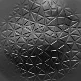 Futuristischer Hintergrund mit Linien und abstrakter niedrig-Poly-, polygonaler dreieckiger Mosaikhintergrund für Netz, Darstellu Stockfotografie