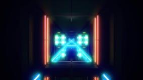 Futuristischer Hintergrund vjloop Illustration des Wissenschafterfindungstunnelkorridors 3d stock footage