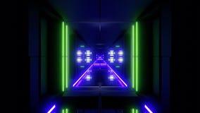 Futuristischer Hintergrund vjloop Illustration des Wissenschafterfindungstunnelkorridors 3d stock video footage