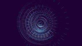 Futuristischer Hud Target mit Computer-Daten-Schirm am Ende Gut für Technologietitel und -hintergrund lizenzfreie abbildung