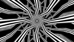Futuristischer hypnotischer Tunnel-Hintergrund lizenzfreie abbildung