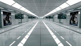 Futuristischer Innenraum Stockbild
