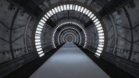 Futuristischer Korridor Stockbilder