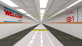 Futuristischer Korridor Lizenzfreies Stockbild