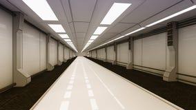 Futuristischer Korridor Stockfotos