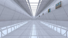 Futuristischer Korridor Stockfoto