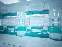 Futuristischer Korridor Sci FI stockfoto