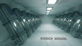 Futuristischer Korridor SCIFI Stockfotografie