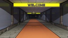 Futuristischer Korridor SCIFI Lizenzfreie Stockbilder