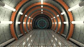 Futuristischer Korridor SCIFI Lizenzfreies Stockfoto