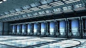 Futuristischer Korridor SCIFI Lizenzfreie Stockfotografie