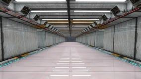 Futuristischer Korridorinnenraum Lizenzfreies Stockfoto