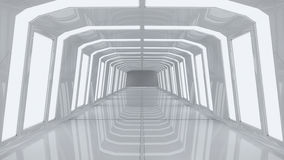 Futuristischer Korridorinnenraum Lizenzfreies Stockbild