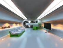Futuristischer moderner Innenraum Stockfotografie