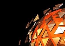 Futuristischer Nano-Hintergrund der Technologie 3D Stockbilder