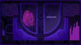 Futuristischer Scan Fingerabdruck-Digital stock video