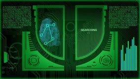Futuristischer Scan Fingerabdruck-Digital stock video footage
