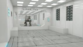 Futuristischer SCIFI-Innenraum Stockfotografie