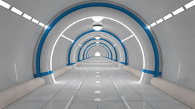 Futuristischer SCIFI-Innenraum Stockbilder