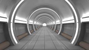 Futuristischer SCIFI-Innenraum Lizenzfreie Stockfotos