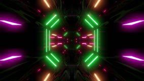 Futuristischer Scifitunnelkorridor mit Schleife vj Endlos-Schleife der Illustration der Beschaffenheitsmusterungshintergrundtapet lizenzfreie abbildung
