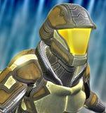 Futuristischer Soldat Stockfoto
