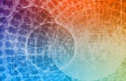 Futuristischer Technik-Technologie-Hintergrund lizenzfreie abbildung