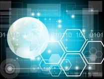 Futuristischer Technologiehintergrund Stockfoto