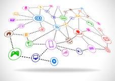 Futuristisches abstraktes Internet-Konzept Stockbilder