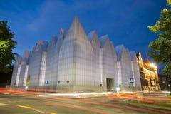 Futuristisches Bürogebäude in Szczecin philharmonisch Stockfotografie