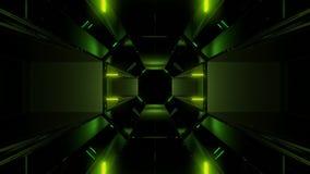 Futuristisches dunkles Scifihintergrundtapeten-Hintergrund vjloop 3d übertragen stock abbildung