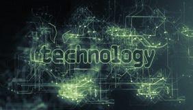 Futuristisches Gitter mit Wort-Technologie stock video footage