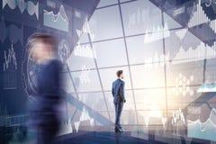 Futuristisches Innovations- und Finanzkonzept Stockfotos