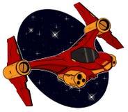 Futuristisches Kampf starship lizenzfreie abbildung